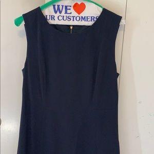 Navy blue sleeveless Tahari shift dress